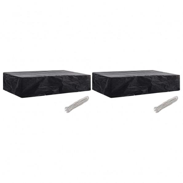 Overtræk til liggestol 2 stk. 8 snørehuller 218 x 77 x 55 cm