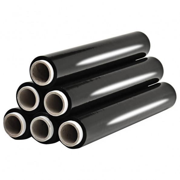 Pallefilmruller 6 stk. 624 m 23 µm sort