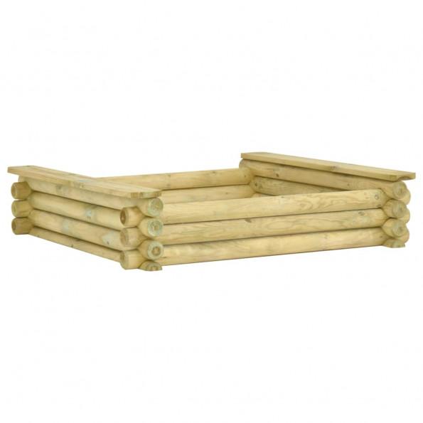 Sandkasse 120 x 120 x 27 cm imprægneret fyrretræ