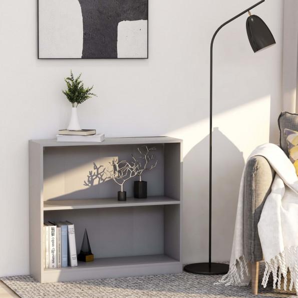 Bogreol 80 x 24 x 75 cm spånplade grå