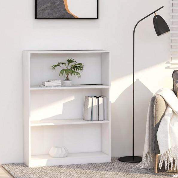 Bogreol 80 x 24 x 108 cm spånplade hvid