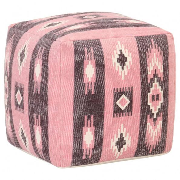 Puf 45x45x45 cm print bomuld pink
