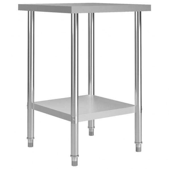 Arbejdsbord til køkken 60x60x85 cm rustfrit stål