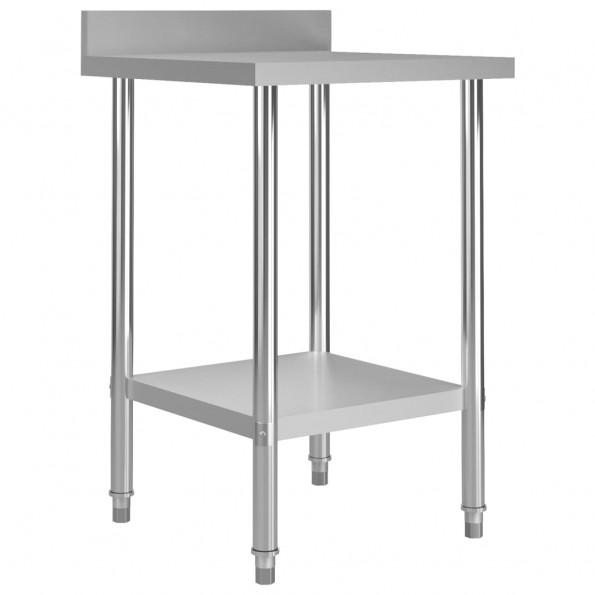 Arbejdsbord til køkken m. stænkplade 60x60x93 cm rustfrit stål