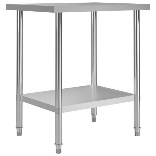 Arbejdsbord til køkken 80x60x85 cm rustfrit stål
