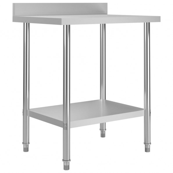 Arbejdsbord til køkken m. stænkplade 80x60x93 cm rustfrit stål