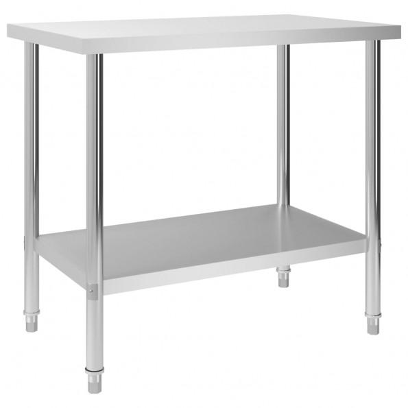 Arbejdsbord til køkken 100x60x85 cm rustfrit stål