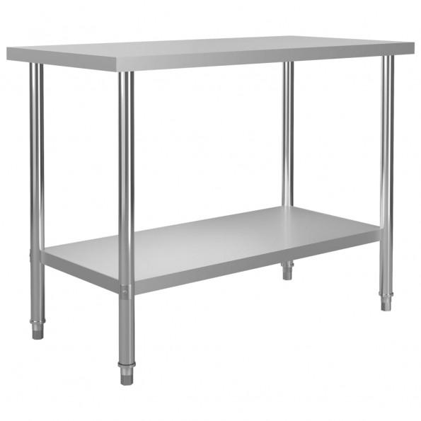 Arbejdsbord til køkken 120x60x85 cm rustfrit stål