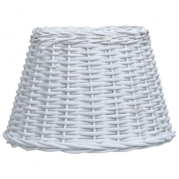 Lampeskærm 38x23 cm flet hvid