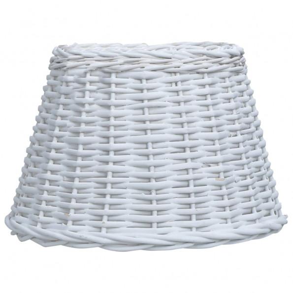 Lampeskærm 45x28 cm flet hvid
