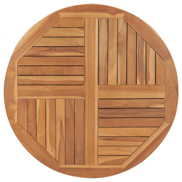Bordplade 2,5 cm 90 cm rund massivt teaktræ