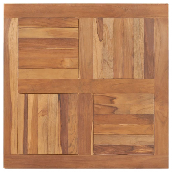 Bordplade 80x80x2,5 cm firkantet massivt teaktræ