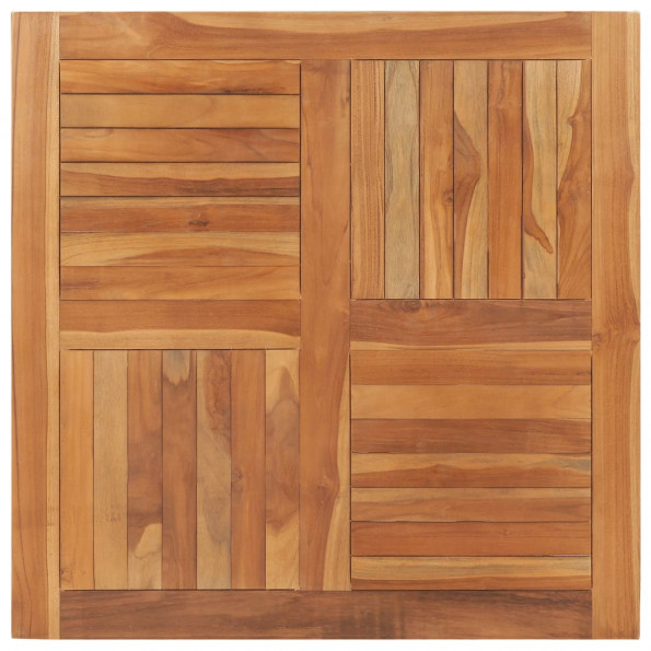 Bordplade 90x90x2,5 cm firkantet massivt teaktræ