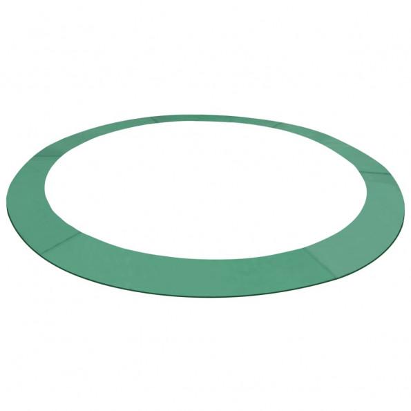 Sikkerhedsmåtte PE til 12 ft/3,66 m rund trampolin grøn