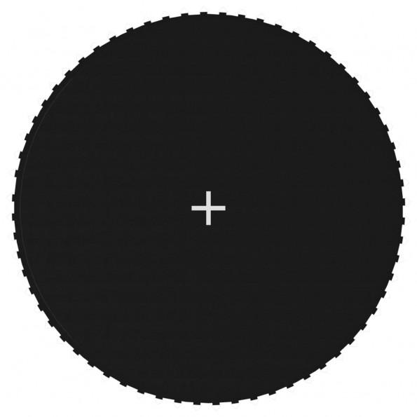 Trampolinmåtte til 12 ft/3,66 m rund trampolin stof sort