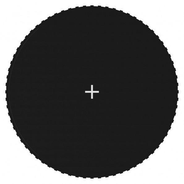Trampolinmåtte til 13 ft/3,96 m rund trampolin stof sort