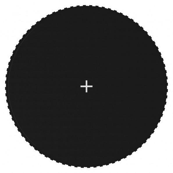 Trampolinmåtte til 14 ft/4,27 m rund trampolin stof sort