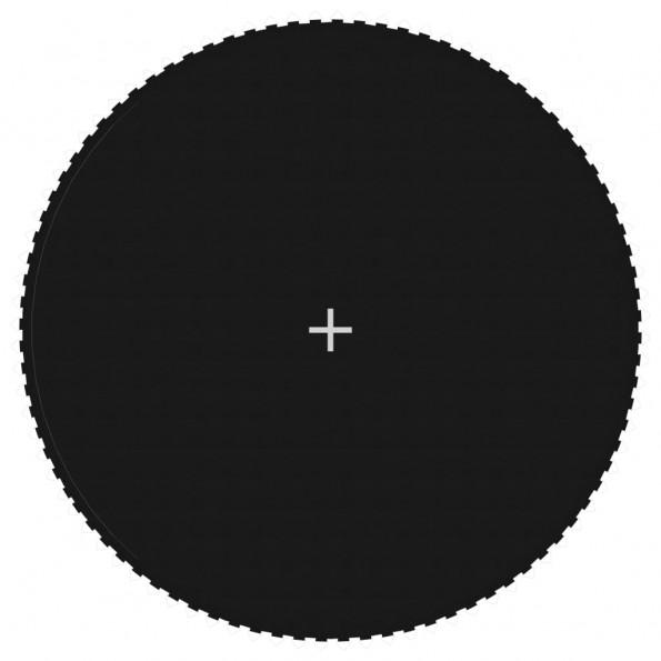 Trampolinmåtte til 15 ft/4,57 m rund trampolin stof sort