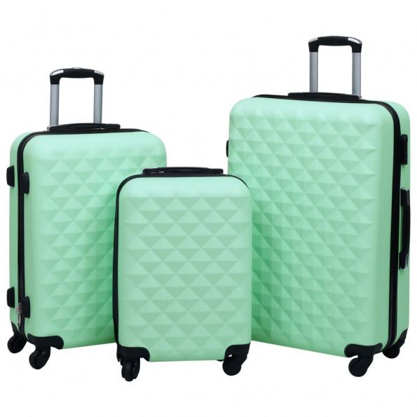 Kuffertsæt 3 stk. hardcase ABS mintgrøn