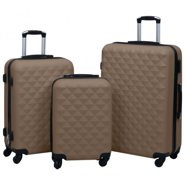 Kuffertsæt 3 stk. hardcase ABS brun