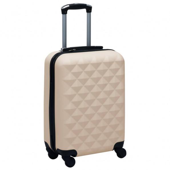 Hardcase-kuffert ABS guldfarvet