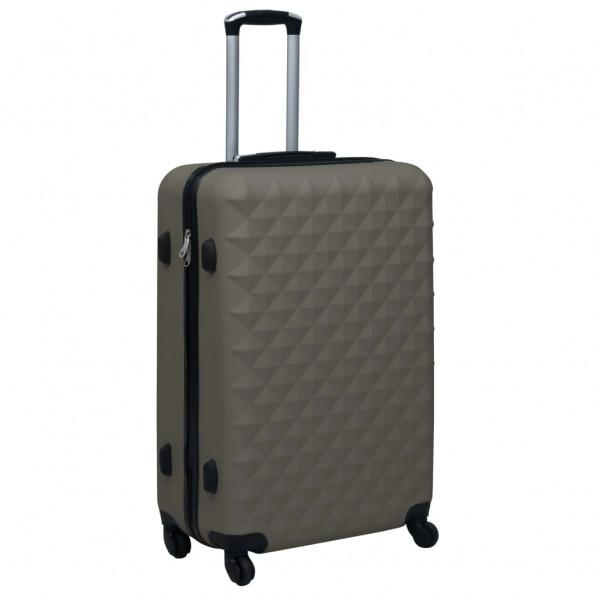 Hardcase kuffert ABS antracitgrå