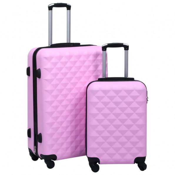 Kuffertsæt 2 stk. hardcase ABS pink