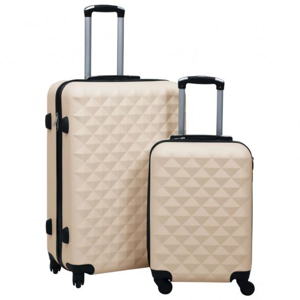Kuffertsæt 2 dele hardcase ABS guldfarvet