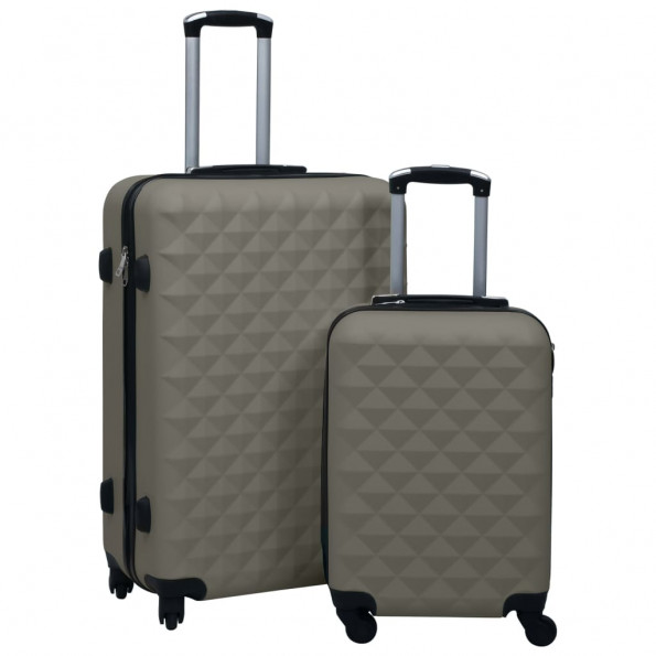 Kuffertsæt 2 dele hardcase ABS antracitgrå