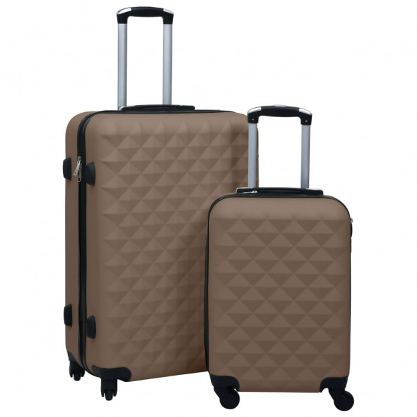 Kuffertsæt 2 stk. hardcase ABS brun
