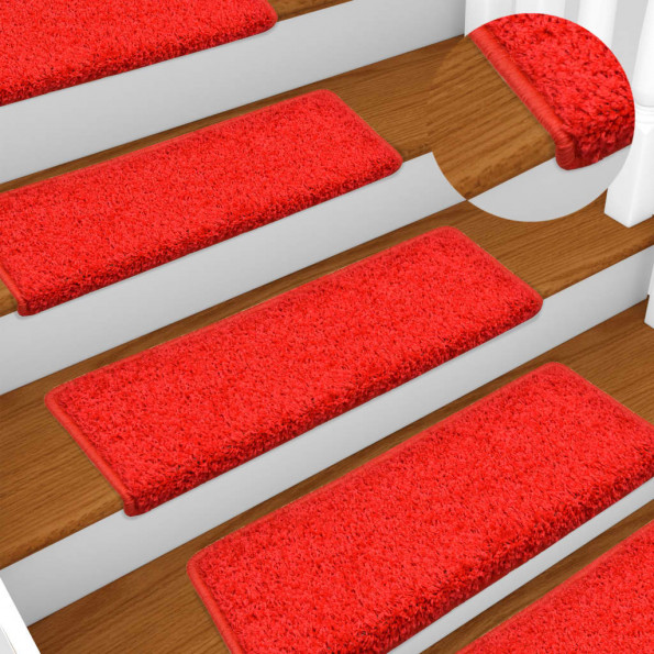 15 stk. trappemåtter 65x25 cm rød