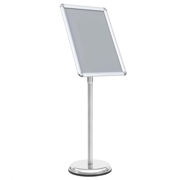 Plakatstativ A3 aluminiumslegering sølvfarvet
