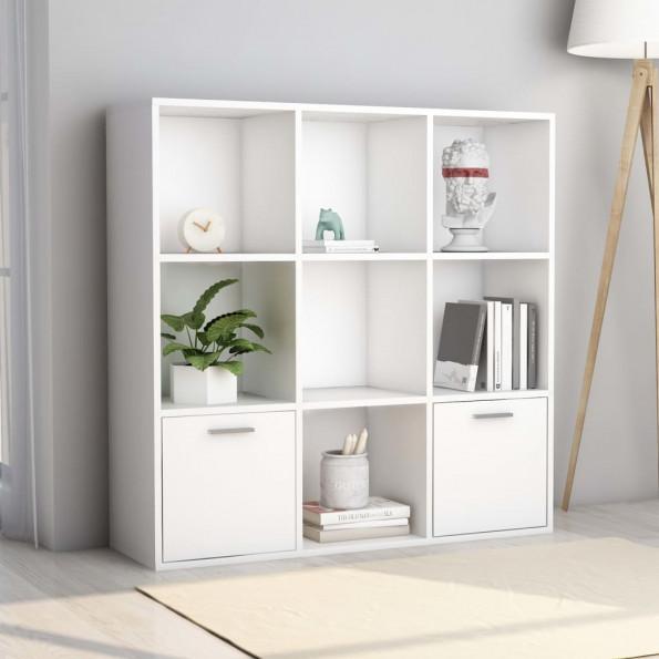 Bogreol 98x30x98 cm spånplade hvid