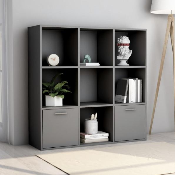 Bogreol 98x30x98 cm spånplade grå