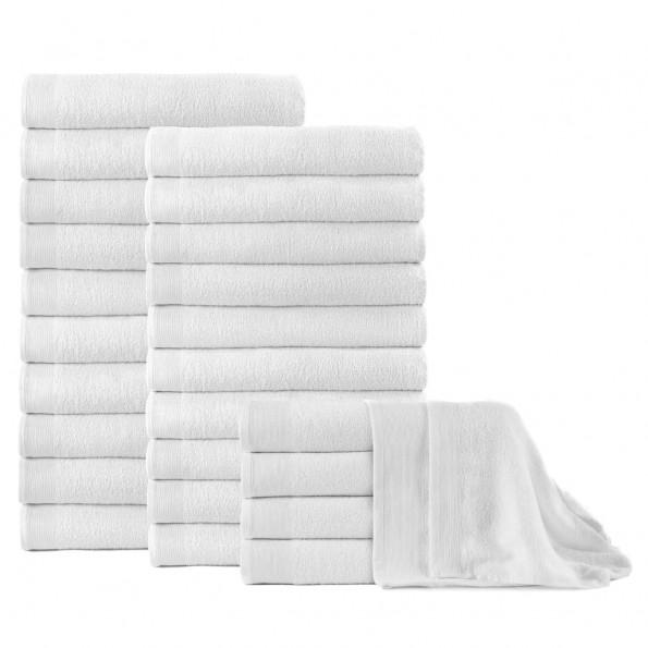 Badehåndklæder 25 stk. bomuld 350 gsm 100x150 cm hvid