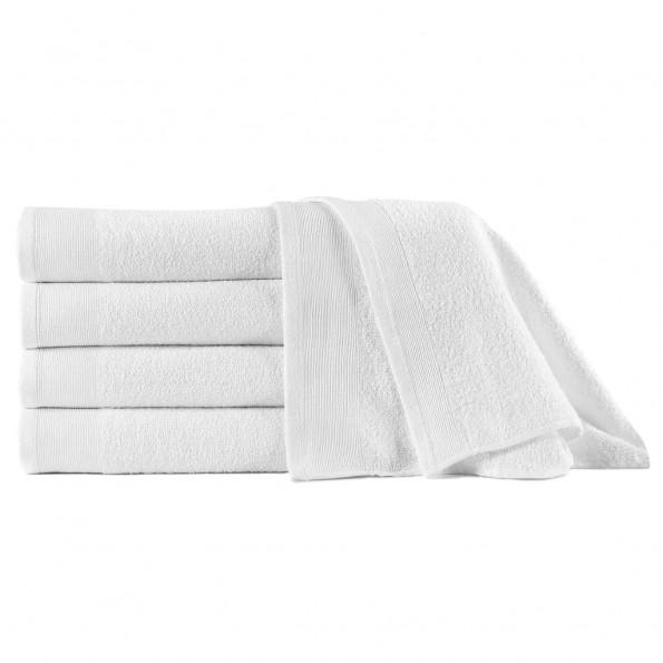 Badehåndklæder 5 stk. bomuld 450 gsm 70x140 cm hvid