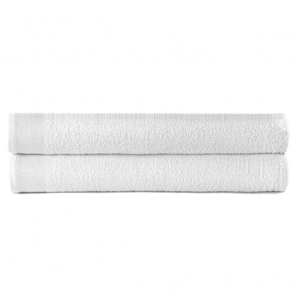 Badehåndklæder 2 stk. bomuld 450 gsm 70x140 cm hvid