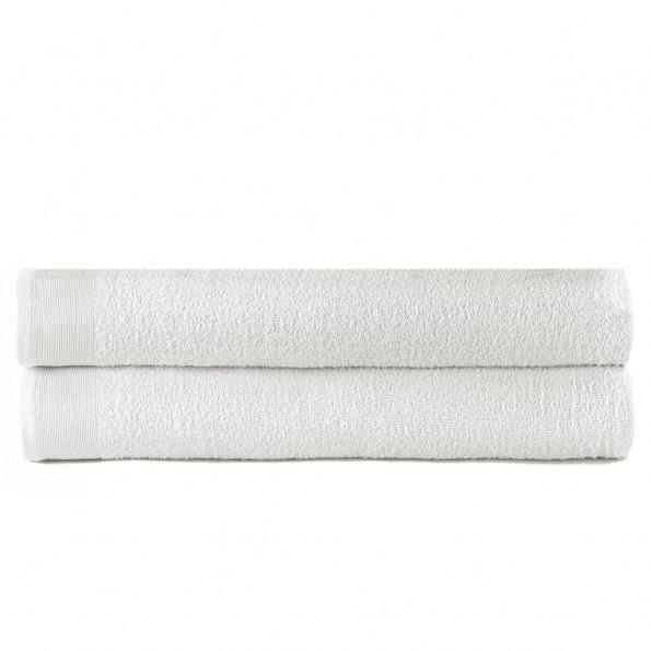 Badehåndklæder 2 stk. bomuld 450 gsm 100x150 cm hvid