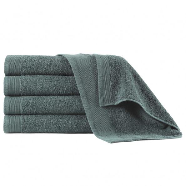 Badehåndklæder 5 stk. bomuld 450 gsm 70x140 cm grøn
