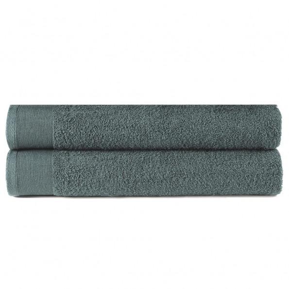 Badehåndklæder 2 stk. bomuld 450 gsm 70x140 cm grøn