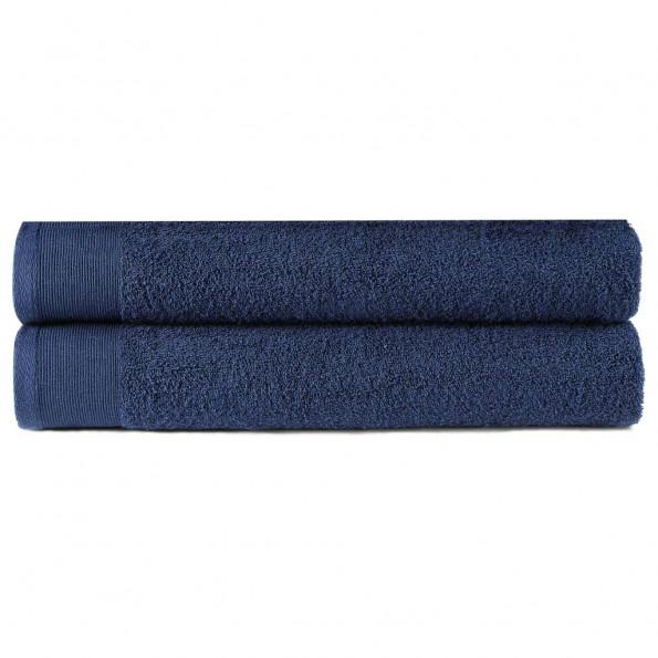 Badehåndklæder 2 stk. 450 gsm 70x140 cm bomuld marineblå