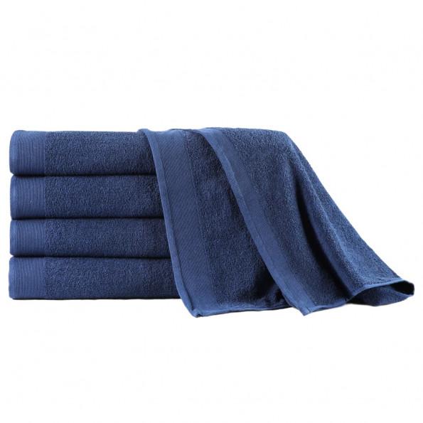 Badehåndklæder 5 stk. 450 gsm 100x150 cm bomuld marineblå