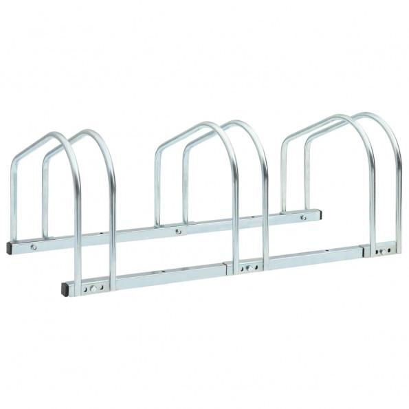 Cykelstativ til tre cykler 71x33x27 cm stål