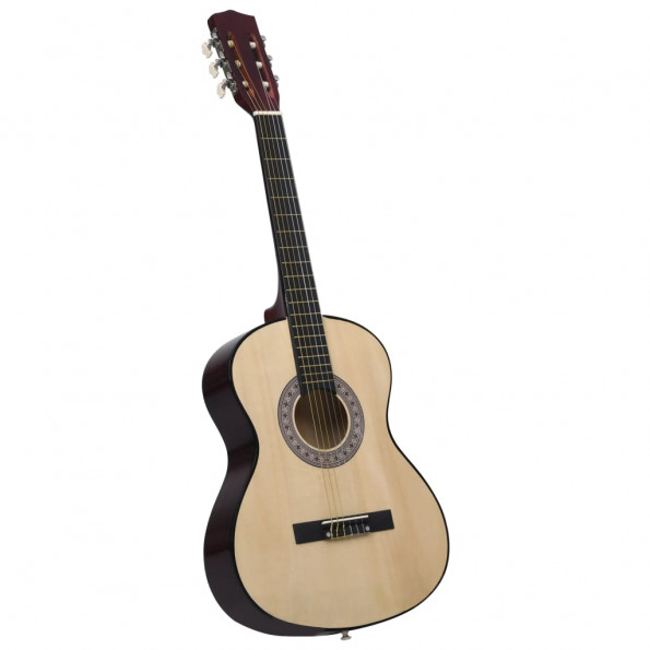 """Klassisk guitar for begyndere 4/4 39"""" lindetræ"""