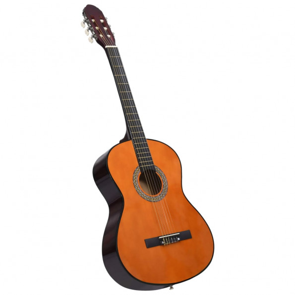 """Klassisk guitar til begyndere 4/4 39"""" lindetræ"""