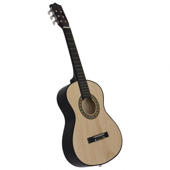 """Klassisk guitar for begyndere og børn 1/2 34"""" lindetræ"""