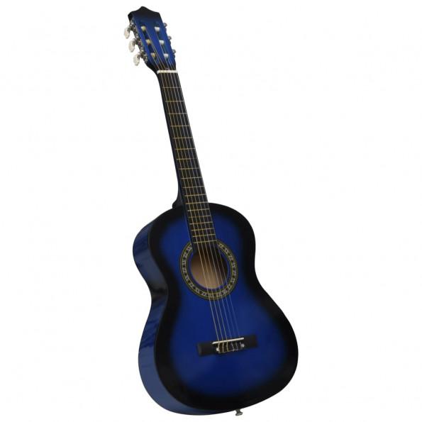"""Klassisk guitar for begyndere og børn 1/2 34"""" blå"""