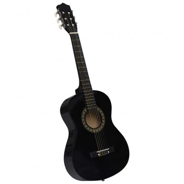 """Klassisk guitar for begyndere og børn 1/2 34"""" sort"""