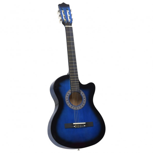 "Akustisk western-guitar med 6 strenge 38"" blå"