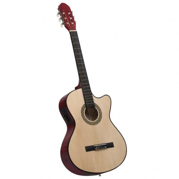Akustisk western-guitar med equalizer og 6 strenge